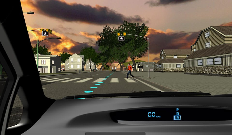 Texting-and-driving-simulator-pedestrian