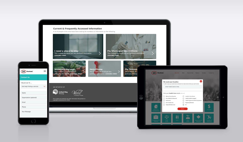 211 Responsive Web App